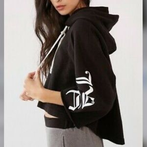 Urban Outfitters Oversized Cropped Hoodie